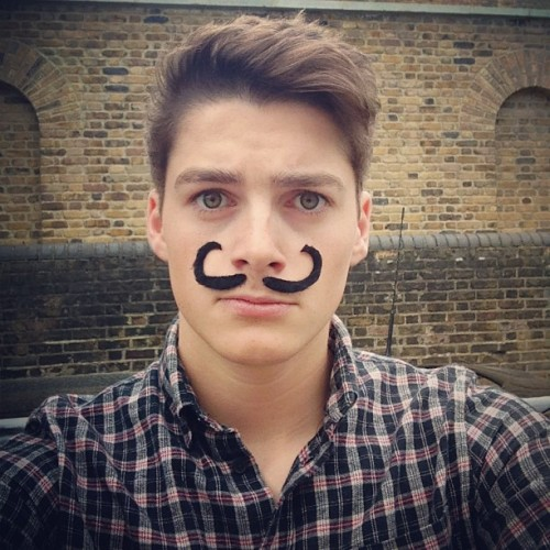 finnharries:  I forgot to shave this morning… It's hard maintaining such a manly moustache.