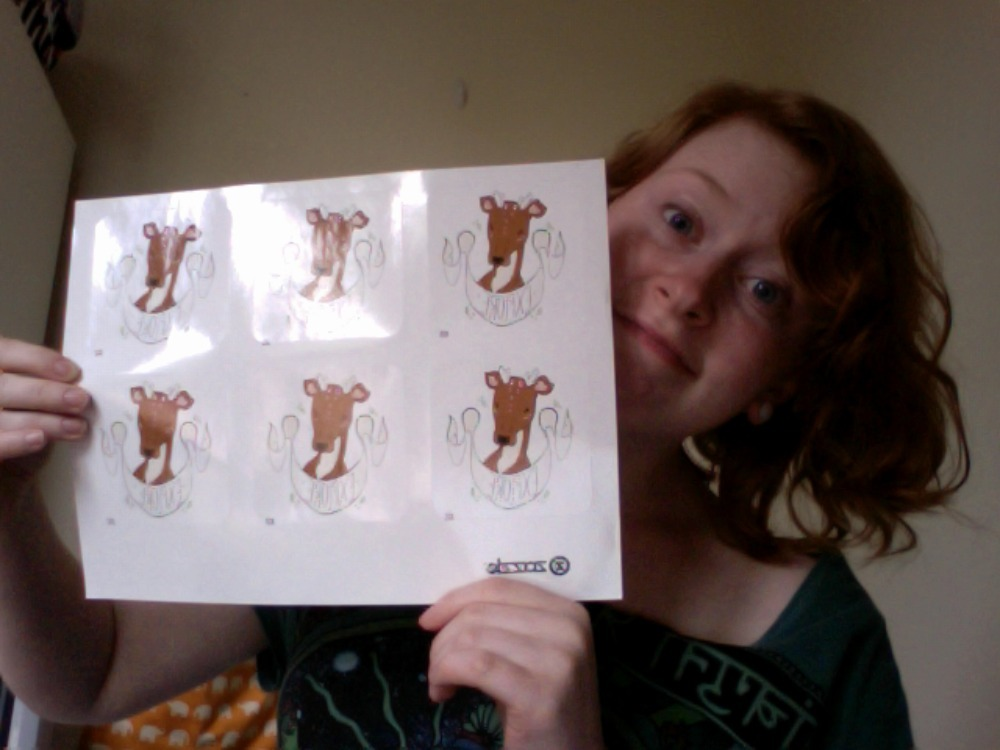 HELLO FRIENDS, there are officially some deer stickers in the hizzouse (pardon my french) check it out!
