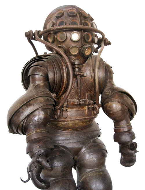 lostsplendor:  Armored Diving Suit, France c. 1878 (via Xerposa)   … Big daddy?
