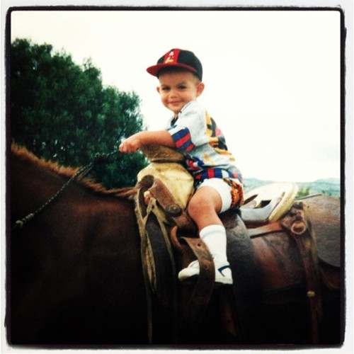 Throwback to 2 years old and on a horse! #tbt #throwbackthursday #horse #1994 #mexico
