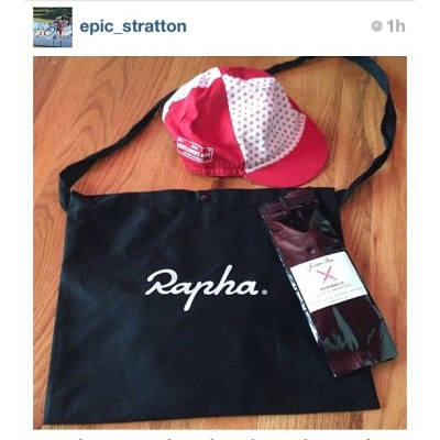 Via @geekhousebikes' @epic_stratton, each @rapha_n_america's NE #RGR racer received a commemorative #Rapha cap & a @grimpeurbros sample bag of the limited edition #RiverRoad 2.0 featuring the Rapha designed label. FYI: racers were on River Road several times on Saturday. #gnar  #cycling #grimpeur #specialtycoffee #coffeedoping #rideyourbike #drinkgreatcoffee
