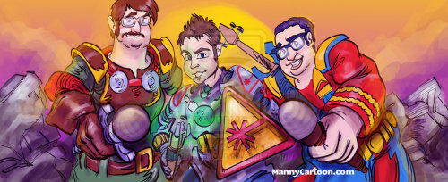 Nerdist Crusadersby ~mannycartoon