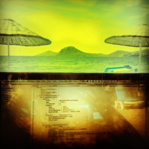 Define #freelance 🌅🌄💻⛵ (at Mercan Bistro Beach)