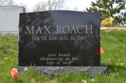 Gravesite - Max Roach, Master Jazz Drummer - 1924 - 2007, Woodlawn Cemetery - Bronx, NY photo (c) Alan Strauber (all rights reserved) 4.28.13