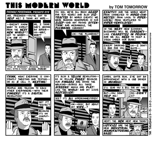 azspot:   Tom Tomorrow: Thomas Friedman, private eye
