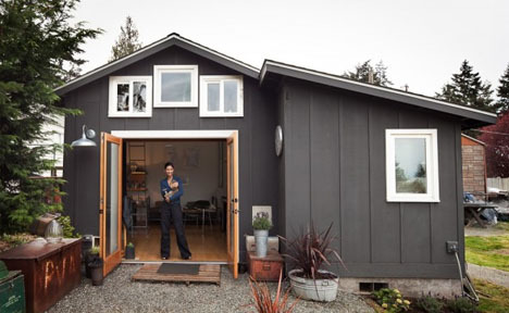 Cozy Carpark: 250-Square-Foot Home Inside Old Garage | Dornob