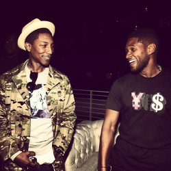 Usher and Pharrell