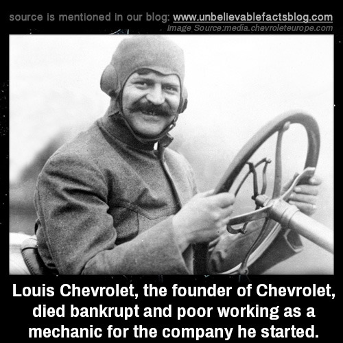 famous people unusual deaths chevrolet facts inventors submission
