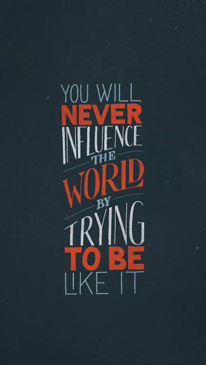 Try something different. (via visualgraphic, Sean Wes)