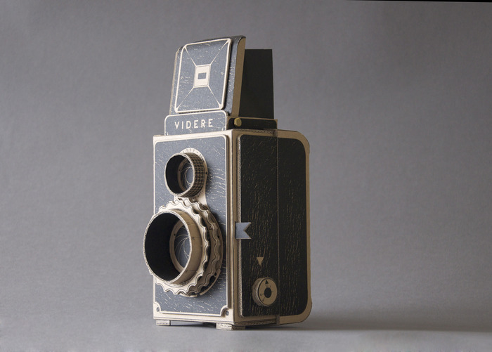 estimfalos:  Make your own medium format camera and learn about pinhole photography in style Kelly Angood, creator:  The Videre works without a lens, instead using a simple pinhole to take photographs onto medium format film. I have translated my original design into a beautiful and hardwearing do-it-yourself kit so that everyone can make their own Videre camera and learn about pinhole photography in style. The kit will be printed and die-cut onto thick recycled card and supplied with easy to follow instructions and a spare medium format spool. I also plan to produce a short instructional video, which will be viewable online alongside a virtual gallery space where pinhole photographs that have been taken with the camera can be submitted.   - Video Above -