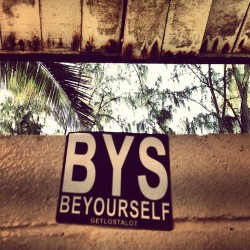 #BeYourself #getlost #alot #beach #bathroom #sticker #hawaii #kailua #beachpark