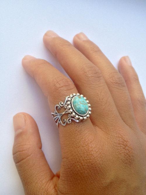 grunge boho boho ring turquoise jewelry stone ring turquoise ring turquoise bohemian jewelry