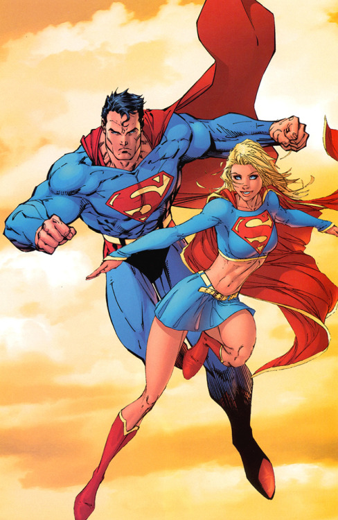 Superman & Supergirl by Jim Lee
