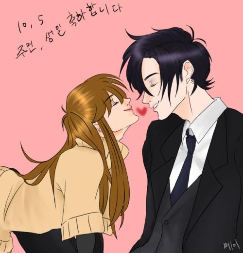 """mei00k: """"주민, 생일 축하해~.:) """""""