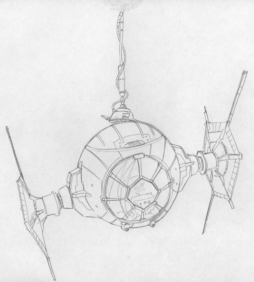 walkingcarpet:  Dave Filoni is drawing Tie Fighters for Lucasfilm… very interesting prospect….
