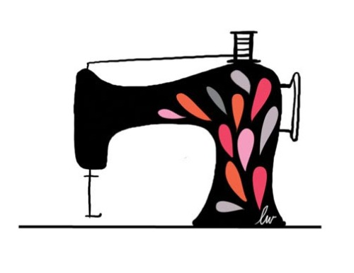 Sewing machine icon that I created for a logo design… but I decided it didn't fit in with the project and didn't present it to the client.  I still liked the little illustration; it just wasn't right for that particular job.