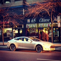 Tesla sighting in Chicago. They finally give you one @zpower? #radiuus  (at 65 Chinese Restaurant)