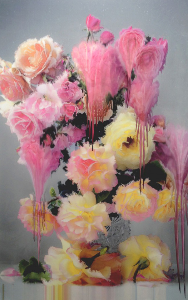 For over thirty years renown fashion photographer Nick Knight has been bringing us iconic images that represent multiple generations of pop culture and challenge conventional notions of beauty. Last year Knight released 15 images from his acclaimed publication Flora which were exhibited along side his new photographs featuring flowers pouring out their colors. This idyllic exhibition took place at the SHOW studio in London in the Fall of 2012. His new works are a hybrid between photography and painting that have stunning aesthetic qualities. His work is brings to mind both the delicacy of 17th and 18th century still life paintings, such as Jan Brueghel's the Elder, and classic Romanticism and the timeless interest of an artist to capture the fragility of the moment. Knight made these images using his own technique in which he introduces heat and water into the printing process. The images seen in this exhibition took Knight over 10 years of experimentation to perfect. MORE: http://hifructose.com/2013/04/17/nick-knight-captures-the-fragility-of-the-moment/