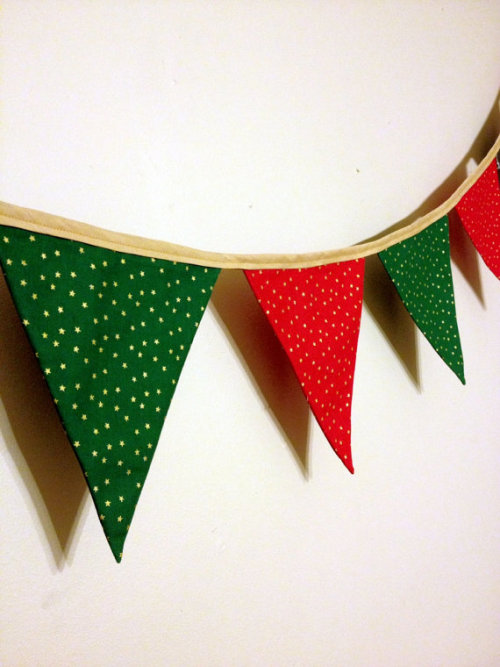 Ready To Ship Christmas Bunting Christmas Decoration by suntaree
