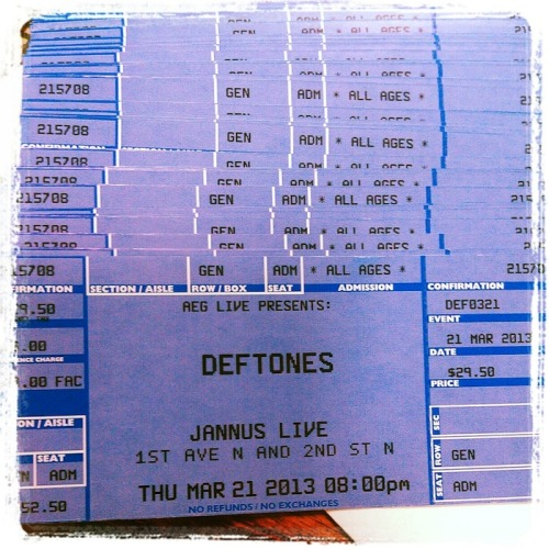 Deftones at Jannus Live tickets now in stock!