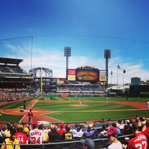 A great day for baseball in Pittsburgh! GO NATS