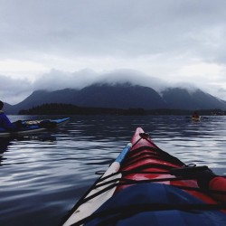 worn-in-perfection:  Skiing yesterday, sea kayaking today. I love BC