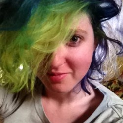 I've got crazy colors in my hair now!
