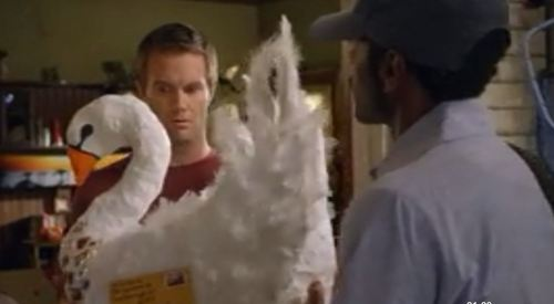 """Virginia! Your cousin sent you a cardboard chicken!"" Raising Hope"