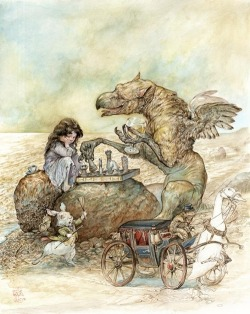 anachronisticfairytales:  Interlude with the Gryphon Omar Rayyan