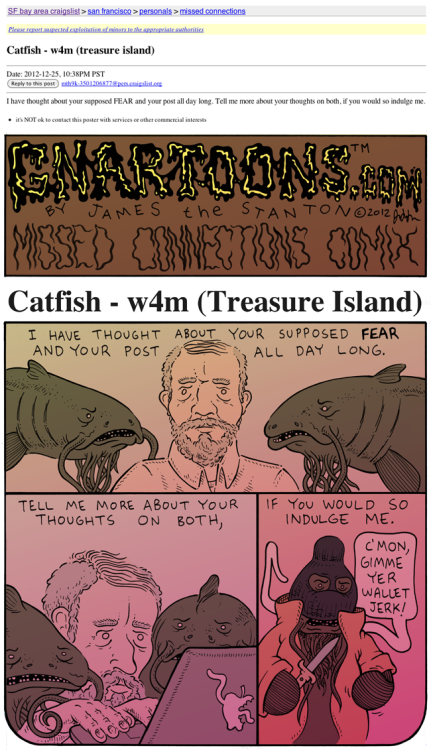 gnartoons:  Missed Connections Comix: Catish