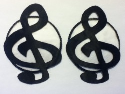 Treble Clef pasties.  SOLD, will recreate!