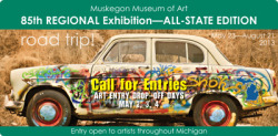 85th Regional Exhibition: State-Wide Call for Entries  Muskegon Museum of Art 85th Regional Exhibition – All-State Edition Entry Registration: May 2, 3, and 4, 2013  The MMA's Regional Exhibition holds a respected position within Michigan's art tradition, representing the best in our artistic community. This year, for the second year in a row, the invitation to enter artwork is extended to artists throughout our state. Registration is open to all artists 18 years and older who reside in Michigan.  Up to two artworks may be submitted for juror selection. Artworks must be physically brought to the Museum from Thursday, May 2, through Saturday, May 4, or be shipped, pre-paid, to arrive by May 1. Digital entries are not accepted. Complete information and entry forms are available at www.muskegonartmuseum.org. The 85th Regional Exhibition opens on May 23 and will be on display through August 21, 2013. The public is invited to join the artists at an opening reception on Thursday, May 23, from 5:30 to 8:00 pm. Awards will be announced and given to the artist during the event at 7:00 pm.  This year's juror is Doug Stapleton, an artist, curator, and educator. He is an Assistant Curator of Art with the Illinois State Museum, Chicago Gallery, and a former Artistic Associate with the Chicago-based contemporary dance company The Seldoms. He is an adjunct faculty member in the Interdisciplinary Arts graduate program at Columbia College, Chicago, and his art has been exhibited recently at the Chicago Cultural Center and at the Loyola University Museum of Art. More information on the juror can be found at www. dougstapleton.com.  The 85th Regional Exhibition is underwritten by Shape Corporation and Contemporary Art Ally Alcoa Foundation. Awards are underwritten by Huntington Bank with additional support from  the Muskegon Museum of Art Foundation. Additional support is provided by the Michigan Council for Arts and Cultural Affairs, the National Endowment for the Arts, and media sponsor is Mlive/Muskegon Chronicle.  http://www.muskegonartmuseum.org/media-room/press-releases/305