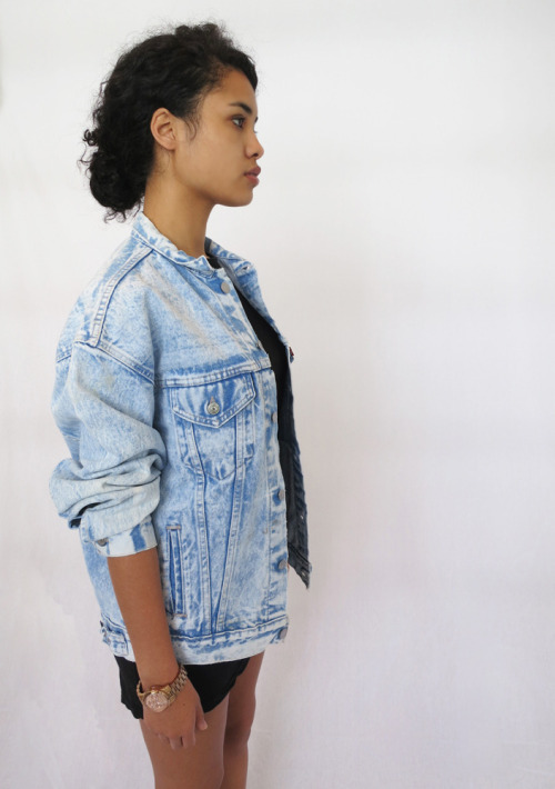 asiadeelight:  Acid Washed Denim Jacket.  Asia Dee x Denim Refinery.  http://shop.denimrefinery.com  http://asiadeelight.tumblr.com