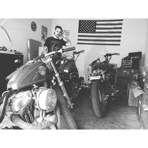 mistasunshine:  Welcome to the Kathousë! #harleydavidson #sportster #garagelife #igers #instagood #biker #america #toolbox #Kathousë #custom #chopped #bobber #harley #mobbin #love #motorcyles #guyswithtattoos #cycles #instramhub #sex #beauty #motors (at The Kathousë)
