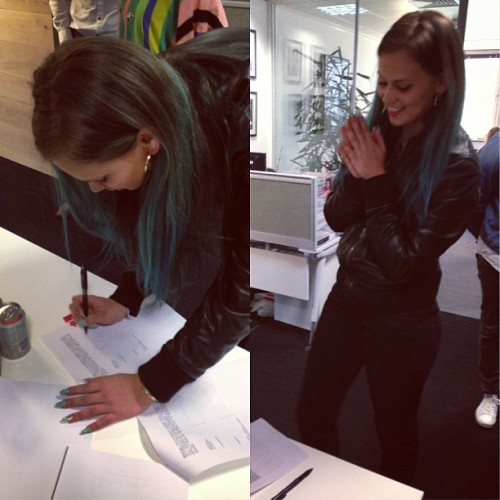 Just signed my publishing deal! Yaaay!