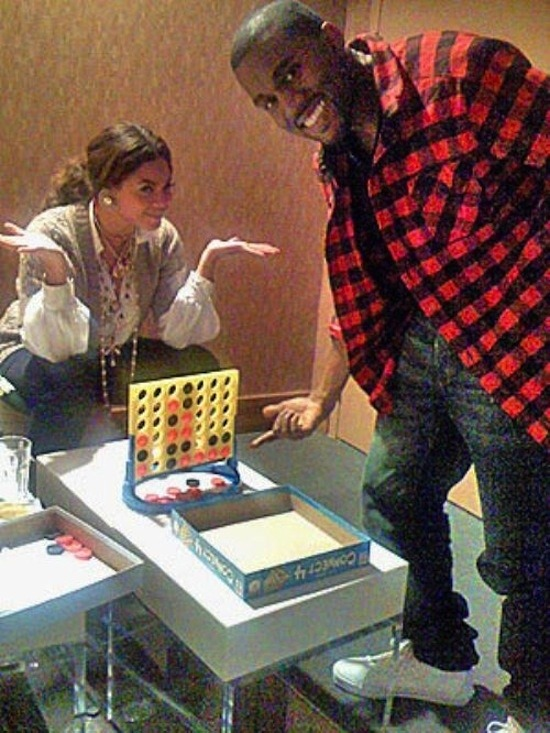 Remember the time Kanye West beat Beyonce in Connect Four?