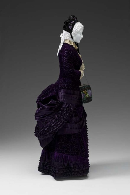 fripperiesandfobs:  Dress ca. 1880-83 From the Mint Museum
