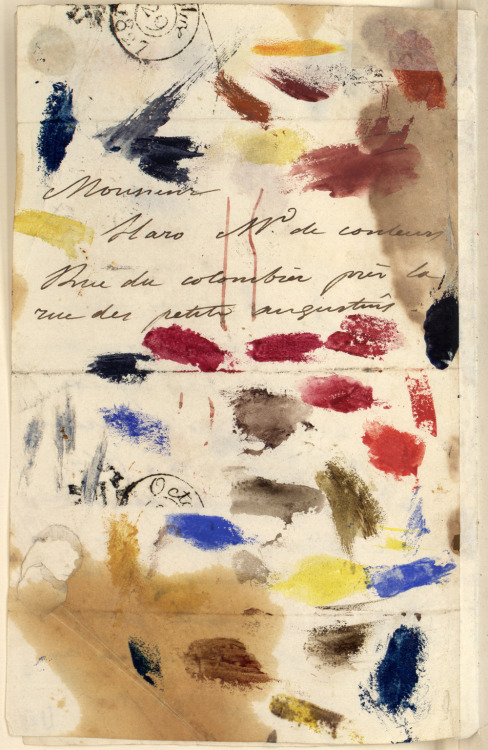 likeafieldmouse:  Letter from Eugene Delacroix to his paint dealer (Oct 28, 1827)  Delacroix, I love thee.