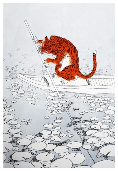 yasaiitame:  urone:  suyhnc:  Tiger floats by. by ~daemontreu on deviantART (via weheartiiiit)