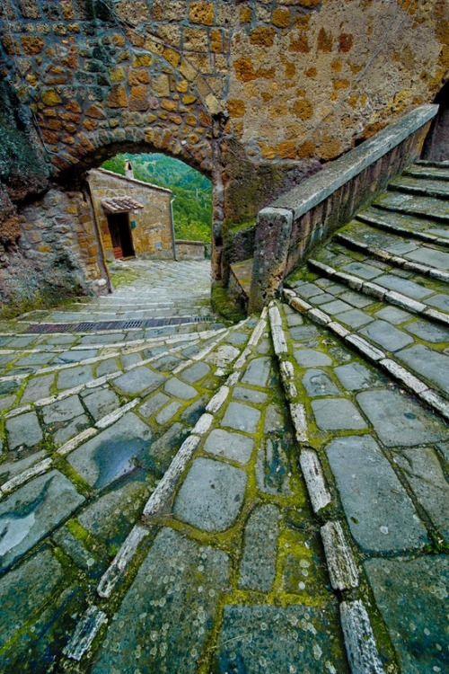 Stairs, Pitigliano, Tuscany, Italy photo via stacey