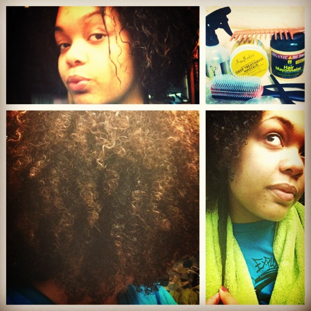 2 1/2 yrs no chemicals.. 1 year no heat. Absolutely ADORING my kinks!!! #me #mysaturday #lookatmyfro #ig #cometothekinkyside #highmaintenancehair #worthit #picstitch
