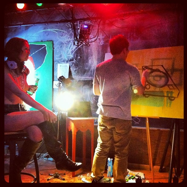 Come watch this #bish @ceeboba win canvas wars  (at Art Bar)