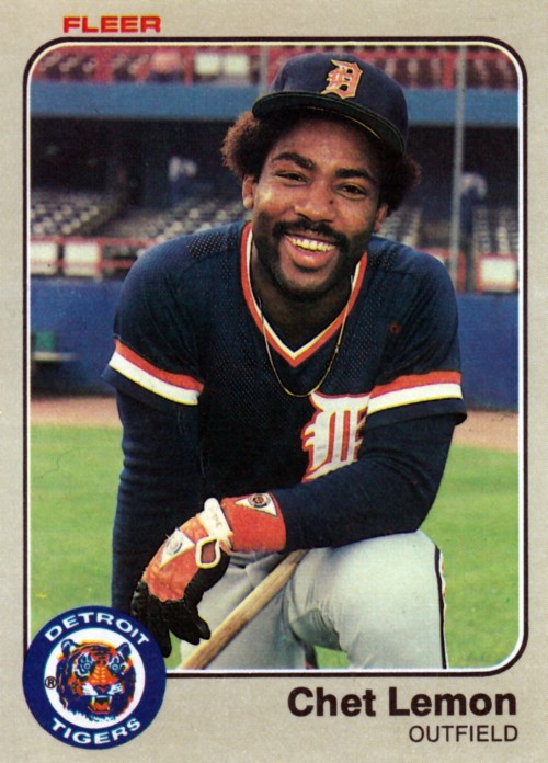 Random Baseball Card #2263: Chet Lemon, outfielder, Detroit Tigers, 1983, Fleer.