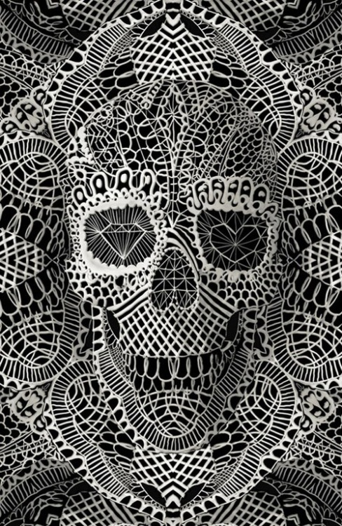 myowneulogy.com / Lace skull on We Heart It - http://weheartit.com/entry/61682744/via/MyOwnEulogy Hearted from: http://pinterest.com/pin/239887117624271342/