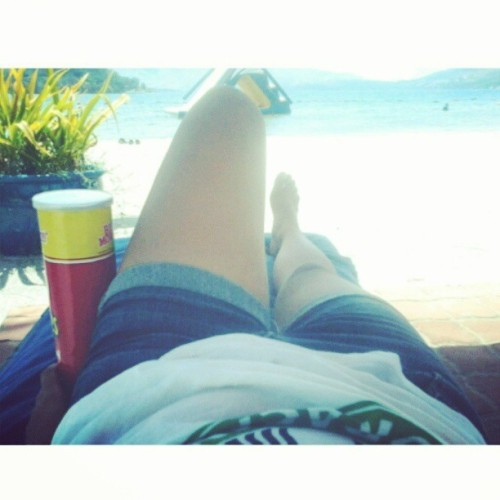 Pringles + beach = summer (at Subic)