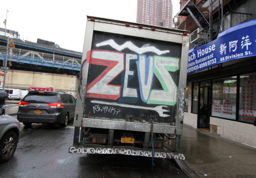 Zeus Graffiti Truck Chinatown, NYCMore photos of graffiti trucks and vans.