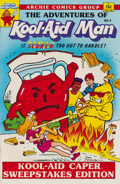thepieshops:  The Adventures of Kool-Aid Man Is Scorch Too Hot to Handle? Published by Archie Comics Group in 1987