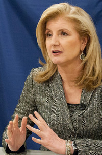 "How Arianna Huffington Defines Success At the Wall Street Journal, Arianna Huffington writes that Sheryl Sandberg's Lean In has unleashed a range of conversations—including what world, exactly, is being leaned into. To Huffington, we're failing to understand the nature of success.  ""This is a great moment…to acknowledge that the current male-dominated model of success isn't working for women,"" she writes, ""and it's not working for men, either.""  What's that world look like? Arianna Huffington Pretty tightly wound. Huffington notes that self-reported stress has gone up for both sexes in the past 30 years—18 percent for women, 25 percent for men. A recent Harvard Medical School study estimated that U.S. companies lose $63.2 billion to sleep deprivation every year. And women, Huffington notes, are more likely to feel stressed at work. With our current ""time macho"" culture, we've got stressed-out leaders in politics, business, and media making awful decisions. ""What they lack is not smarts but wisdom,"" she says. ""And it's much harder to tap into your wisdom, recognizing the icebergs before they hit the Titanic—a big part of leadership—when you're running on empty."" Learning how to lean back Huffington calls upon a lovely French phrase: reculer pour mieux sauter, which loosely translates as lean back to jump higher. Or in other words,relax and you'll be more productive. For Huffington, what's missing is measurement:  We need a third metric, based on our well-being, our health, our ability to unplug and recharge and renew ourselves, and to find joy in both our job and the rest of our life. Ultimately, success is not about money or position, but about living the life you want, not just the life you settle for.  Who are the early adopters? The happiest companies, who, by way, are making more money. Examples: Google has invested in its People Operations, General Mills practices mindfulness, and Square has adirector of experience. And as Leslie Perlow notes, workaholics aren't addicted to work—they're need addicted to validation. So let's change the validation structure. Huffington on Sandberg: To Lean In, First Lean Back [Image by Flickr user Penn State/Patrick Mansell]"