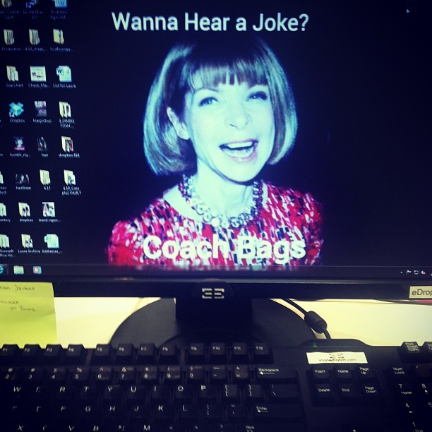 She's not only witty she's my desk top background. #annawintour
