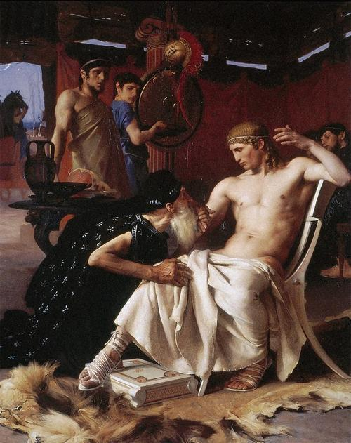 shakypigment:  Priam at the Feet of Achilles by Jerome-Martin Langlois & Joseph Wencker.